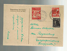 1948 Regensburg Germany Displaced Persons DP Camp PC Cover Local Issue Ukranian