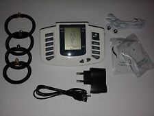 ELECTRO TENS EMS ESTIM HIGH POWER USB LCD UNIT WITH 4 RINGS & 12 PADS!UK SELLER!