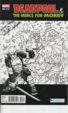 Deadpool & the Mercs for Money #1 ComicsPro Black and White Variant