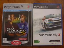 "lot de 2 jeux playstation2 ""Colin Mcrae rally3 et Pro Evolution Soccer 5"""