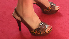 Guess Animal Print Size 6½ - Sexy Platform - HIGH Heel - Club - Evening  Leather