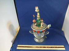 RARE Enesco Holiday On Ice Lighted/Multi-Action Ice Bucket Music Box