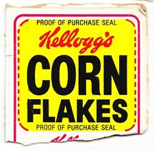 Kellogg's Corn Flakes Cereal Purchase Seal From Cereal Box - 1980's