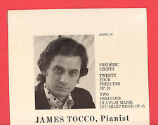 James Tocco,Pianist, Frederic Chopin: Complete Preludes, Acacia 101, New/Sealed