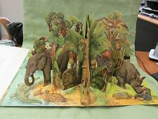 Vintage 1962 Moko & Koko In the Jungle Huge POP-UP Book Kubasta Artia Czech