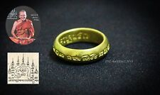 Rare Talisman Carved Inscription Ring Brass Magick Protect Luck Amulet Antique