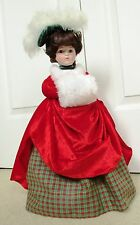 Dynasty Doll Collection Noel 17 Porcelain Doll plays White Christmas *Excellent
