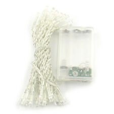 Battery Power White 4M 40 Led String Fairy Party Decor Xmas Lights ED