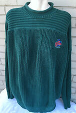 Planet Hollywood Seattle Mens Green Big XL Comfy Sweater Cable Knit