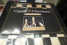 NIB CHESS & CHECKERS LUXURY EDITION GAME BOARD BY WINNING SOLUTIONS