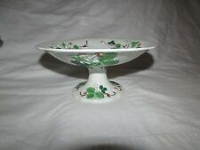 """Antique Creil and Montereau Earthenware 9.5"""" Compote Fruit Strawberry Blossom"""