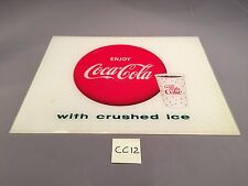 1963 Enjoy Coca-Cola w Ice Things Go Better With Coke Sign Light VINTAGE CC12