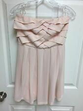 Express Light Pink Strapless Chiffon Lined Cocktail Party Dress Size 2