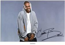 CHRIS BROWN AUTOGRAPHED SIGNED A4 PP POSTER PHOTO