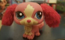 LPS Littlest pet shop #2508 Red Furry Ear King Charles Spaniel Dog Pink