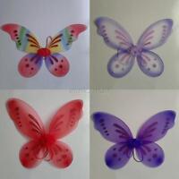 Halloween Fancy Dress Costume Girl Kids Glitter Angel Fairy Butterfly Wings E51