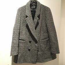 Urban Outfitters Lux Tweed Coat Boyfriend Size xs S