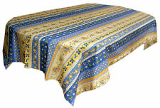"Le Cluny 60"" x 96"" Rectangular COATED Provence Tablecloth - Monaco Blue"