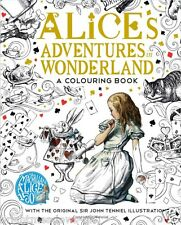 Alice In Wonderland Adult Colouring Book Lewis Carroll Adventures Gift Fantasy