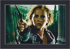 Emma Watson Signed Photo Mount Harry Potter Hermione Granger   Pre-Print Size A4