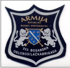BOSNIA ARMY - 222nd BOSNIAN LIBERATION  BRIGADE , GRAČANICA - LUKAVAC rare patch