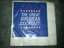 HALLMARK Vintage HUGE PAPER NAPKINS Presidential Election GREAT AMERICAN COOKOUT