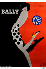 BALLY shoes BLACK  RED ART PRINT POSTER LARGE 700mm