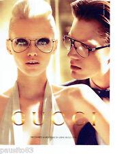 PUBLICITE ADVERTISING 086  2012  les lunettes  Gucci