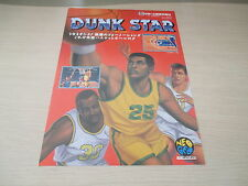SNK NEO GEO AES RARE DUNK STAR DUNKSTAR UNRELEASED JAPAN FLYER CHIRASHI!