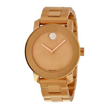 Movado Ladies Bold Bronze Plated Bracelet Quartz Watch 3600335