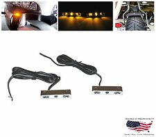 2 CHROME 3 LED TURN SIGNALS Flashers Motor Scooter Unibone Moped Street Cycle EX
