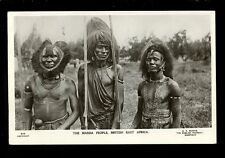 East Africa MASSIA Warriors nice close up c1910/20s RP PPC pub by G N Morhig