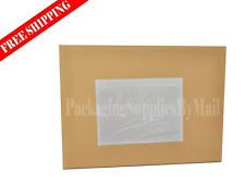"3000 7 1/2 x 5.5 Clear Packing List Envelope Stickers 7.5"" x 5.5"""
