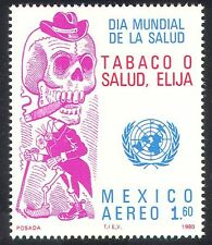 Mexico 1980 Health/Medical/Anti-Smoking/Welfare/Skull/Skeleton/UN 1v (n25938)