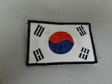 PATCH FLAG OF KOREA 2 BY 3 INCHES OLDER GERMAN MADE