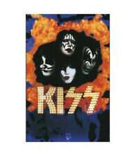 KISS - UNDER FIRE BLACKLIGHT POSTER - 24X36 FLOCKED MUSIC SIMMONS GROUP 3939