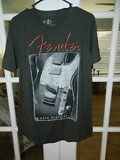 """FENDER"" Guitar officially license Shirt Sz L 100% Cotton ""Make History"" EXC Con"