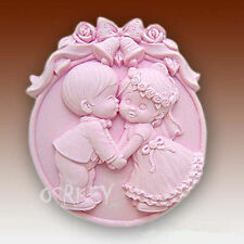 Lovely Boy and Girl S034 Silicone Soap mold Craft Molds DIY Handmade soap mould