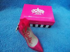 2014 Barbie Convention * Exclusive Pink Doll Shoe Ornament * American Greetings
