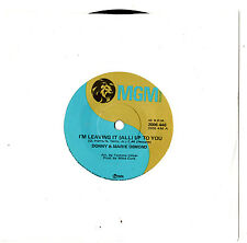 """DONNY & MARIE OSMOND - I'M LEAVING IT ALL UP TO YOU - 7""""45 VINYL RECORD 1974"""