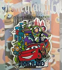 DISNEYLAND DECADES PIN #6 60TH DIAMOND 2005-2015 TINKER BELL NEMO BUZZ CARS LE