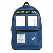 Dr Doctor Who Blue Tardis Blue Police Public Call Box Backpack Bag OFFICIAL NEW