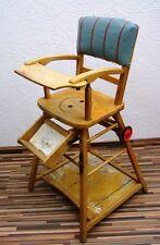Ancienne Chaise Haute De Bébé, D'enfants, Bois Enfants Table Jeu