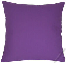 Purple Violet Solid Decorative Throw Pillow Cover/Cushion Cover / Cotton 18x18""