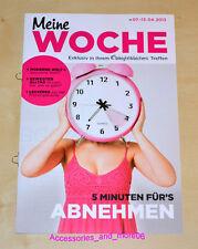 Weight Watchers Meine Woche 7.4 - 13.4 ProPoints™ Plan 360° Wochenbroschüre 2013