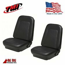 1967 & 1968 Camaro Convertible Front & Rear Black Seat Upholstery - IN STOCK