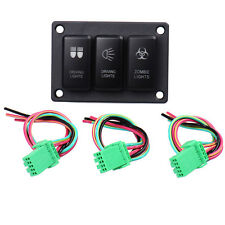 Car 3 Button Driving Panel Light Rocker On Off  LED Switch for Toyota DC 12V