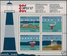 Canada Stamps -Souvenir sheet of 4 -Canadian Lighthouses #1066b -MNH