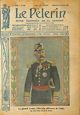 Portrait General Gérard Mathieu Joseph Georges Leman Liège WWI 1918 ILLUSTRATION