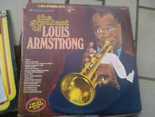 """LP 12""""  DOUBLE THE GREATEST OF LOUIS ARMSTRONG TELE HOUSE USA PRESS N/MINT"""